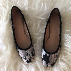 Zara Floral Jacquard Low Heels